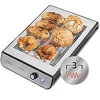 Cecotec Tostador Plano Horizontal - 6 niveles de potencia, bandeja recogemigas y hueco recogecables, 600W o 900W