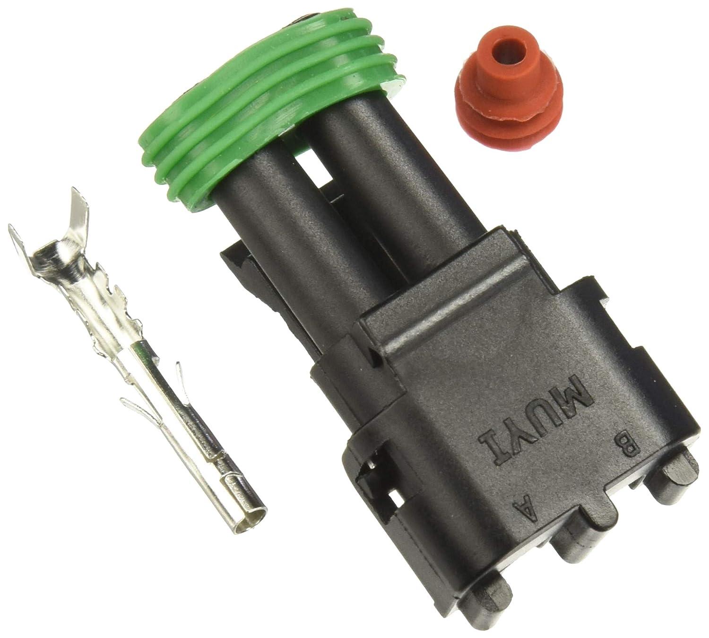MUYI 10 Kit 2 Pin Way Waterproof Electrical Connector 1.5mm Series Terminals Heat Shrink