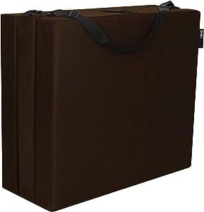 American Furniture Alliance Hide A' Mat 3.5 x 30 x 75 inch Jr Twin TriFold Mattress, Chocolate