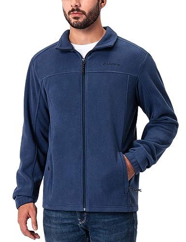 Naviskin Mens Full Zip Fleece Jacket Soft Light Outdoor Jacket