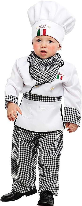 Costume di Carnevale da Piccolo Cuoco Vestito per Neonato Bambino 0-3 Anni  Travestimento Veneziano 4efe4c549264