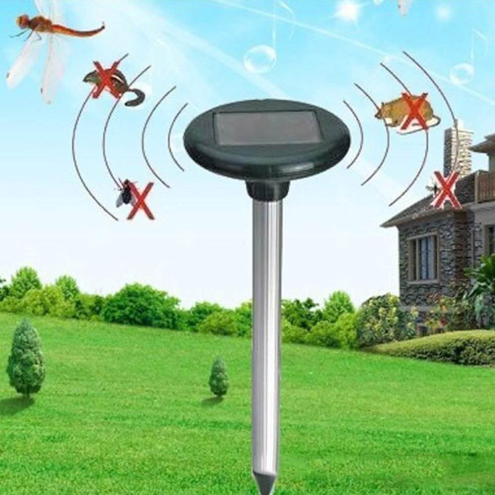 Mole Repeller Solar Snake Gopher Rodent Vole Shrew Pest Repellent,Waterproof for Outdoor Lawn Garden Yards(2 in 1 pack)