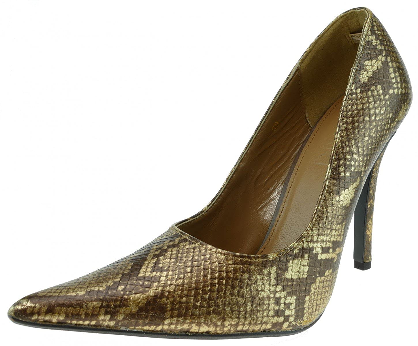 APART Fashion Apart Pumps 756791 Leder Braun Gold, Groesse 39.0
