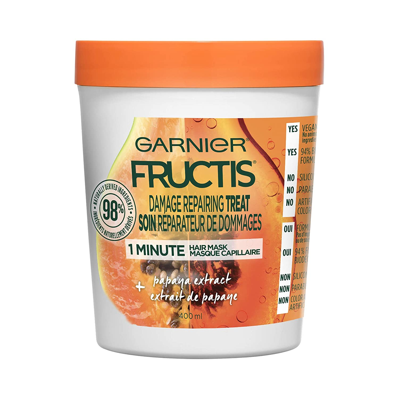 Garnier Fructis hair treats damage repairing treatment with papaya extract, 400ml Garnier Hair Care 603084550050