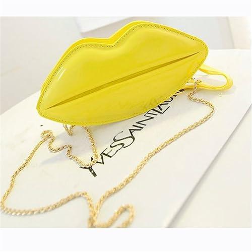 e7a3e669a293 KDHJJOLY Practical women bag handbags tote over shoulder crossbody sling  summer leather Big Lips Clutch Evening