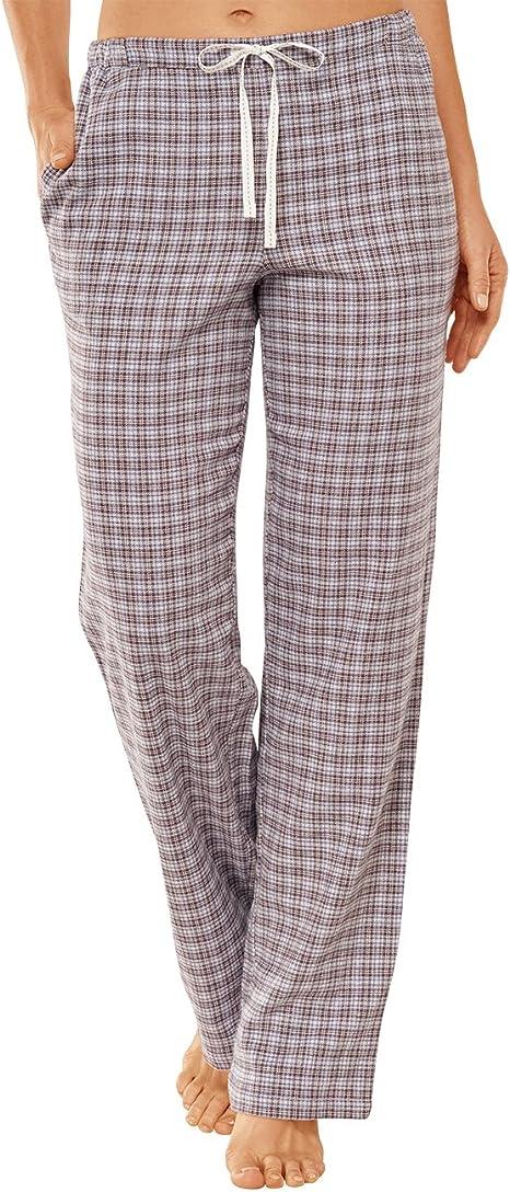 Pyjamahosen Damen Schlafanzug Hose Lang Jerseyhose Schlafanzughose Unifarbe Freizeithosen Hausehose mit Zwei Taschen