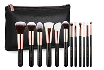Rose Gold Luxury 12pc Makeup Brush Set Vintage Rose Amazon In Beauty 2 for $30 ($36 value) use code: rose gold luxury 12pc makeup brush set