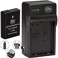 BM Premium EN-EL14A, EN-EL14 Battery and Charger for Nikon D3100, D3200, D3300, D3400, D3500, D5100, D5200, D5300, D5500, D5600, DF, Coolpix P7000, P7100, P7700 Digital SLR Cameras