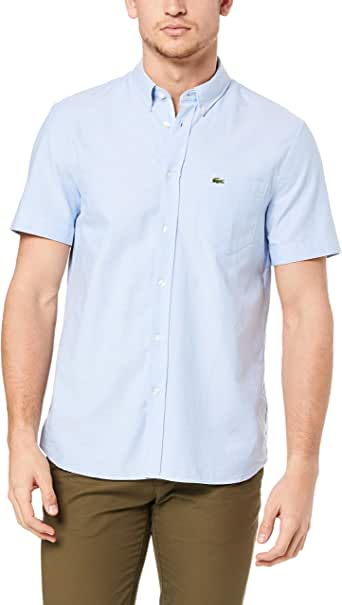 Lacoste Men's Short Sleeve Oxford Shirt