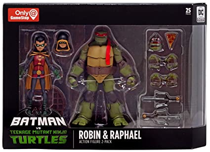 DC Collectibles Batman VS TMNT - Robin & Raphael