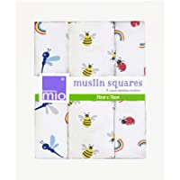 Bambino Mio, Muslin Squares, Bug's Life, 3 Pack