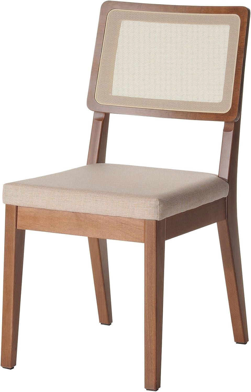 Manhattan Comfort Pell Dining Chair, Dark Beige/Maple Cream