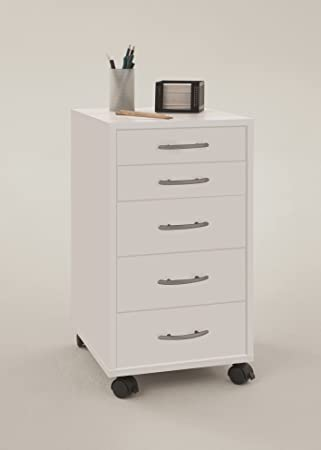 small office drawers. OFFICE WHITE - Drawer Mobile Pedestal With 2 Small Drawers And 3 Large Office Amazon UK