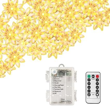Amazon Echosari Remote Timer Battery Operated Lotus Flower