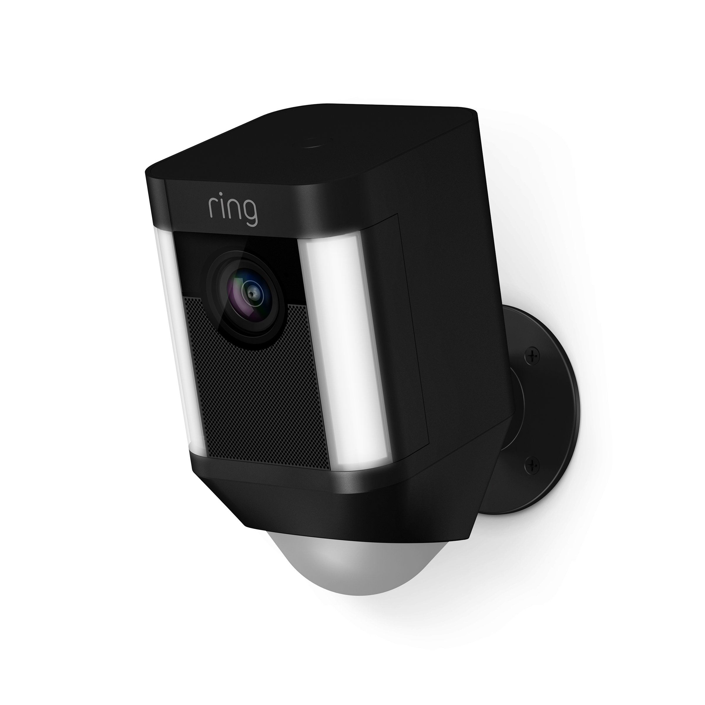 Ring Spotlight Cam Battery HD Security Camera with Built Two-Way Talk and a Siren Alarm, Black by Ring
