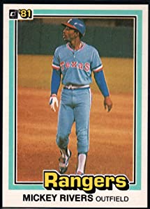 1981 Donruss Baseball #496 Mickey Rivers Texas Rangers Official MLB Trading Card From The Donruss Company in RAW (EX-MT or Better) Condition