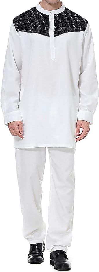 Qianliniuinc Hombre Ropa Larga Arabe Vintage-Vestido Abaya Camisas Traje Maxi Larga Caftan Islamica: Amazon.es: Ropa y accesorios