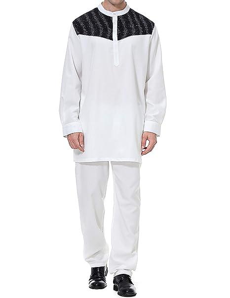 Qianliniuinc Hombre Ropa Larga Arabe Vintage-Vestido Abaya ...