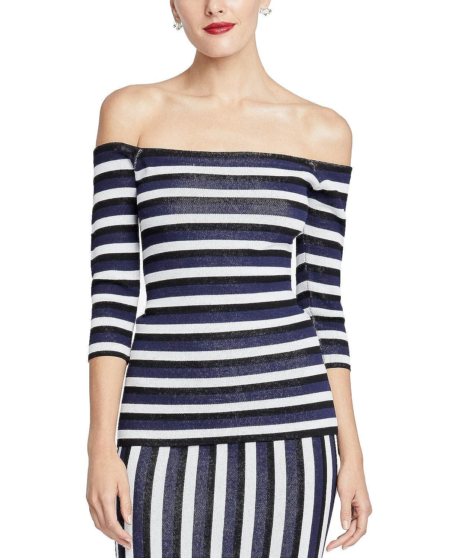 RACHEL Rachel Roy Womens Off-The-Shoulder Striped Blouse