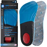 Sof Comfort Elite Men's 3/4 Orthotic Shoe Insoles Inserts With Heel Arch Support