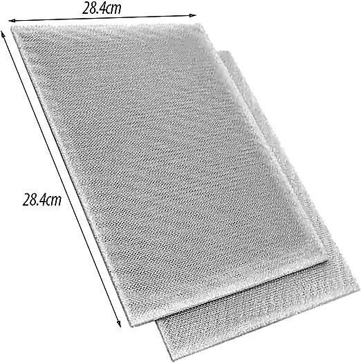Spares2go - Filtro de malla de aluminio para ventilador de campana extractora Neff (28,4 x 28,4 x 0,6 cm, 2 unidades): Amazon.es: Hogar