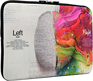 iCasso 13-13.3 inch Laptop Sleeve Bag, Waterproof Shock Resistant Neoprene Notebook Protective Bag Carrying Case Compatible MacBook Pro/MacBook Air- Left and Right Brain