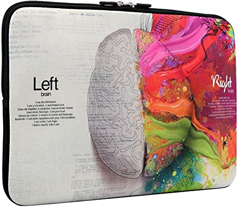 Left and Right Brain Macbook Sleeve
