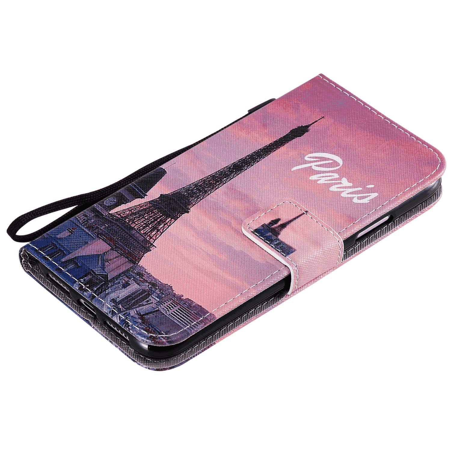 Cover for iPhone X Leather Kickstand Luxury Business Cell Phone Cover Card Holders with Free Waterproof-Bag iPhone X Flip Case