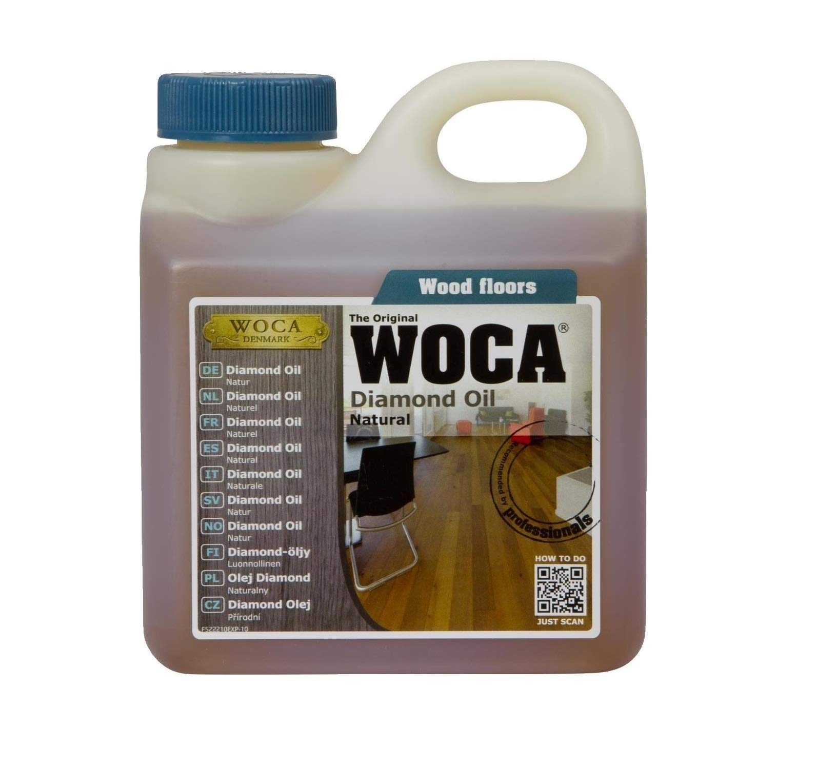 WOCA Diamond Oil 1 Liter/33.814 fl.oz (Natural) by Woca Master Floor Oil (Image #1)