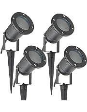 Long Life Lamp Company Luci per esterni ad incastro, GU10 IP65, 4 pezzi, Nero opaco
