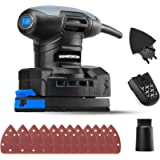 Hammerhead 1.4-Amp Multi-Function Detail Sander with 12pcs Sandpaper, Dust Collection System, and Detail Attachment…