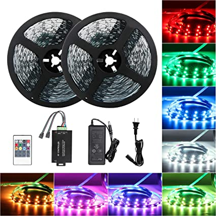 Amazon.com: Tingkam 65.6 ft 20 M Non-Waterproof 5050 SMD RGB ...