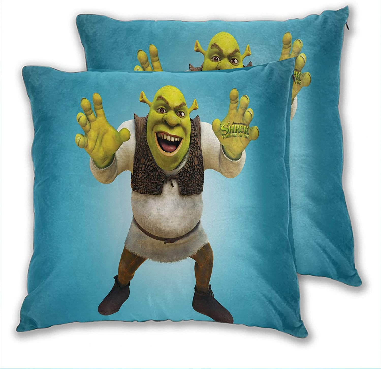 anzonto Throw Pillow Covers Shrek The Halls Funny Home Decor Car Living Room 20x20 Inch Set of 2