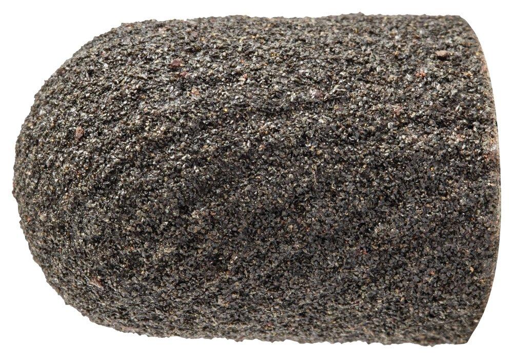 PFERD 46045 Policap Abrasive Cap, Shape C, Aluminum Oxide A, 3/8'' Diameter x 5/8'' Length, 150 Grit (Pack of 50)