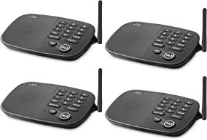 Hosmart 1/2 Mile Long Range 10-Channel Security Wireless Intercom System for Home or Office[4 Units Black]