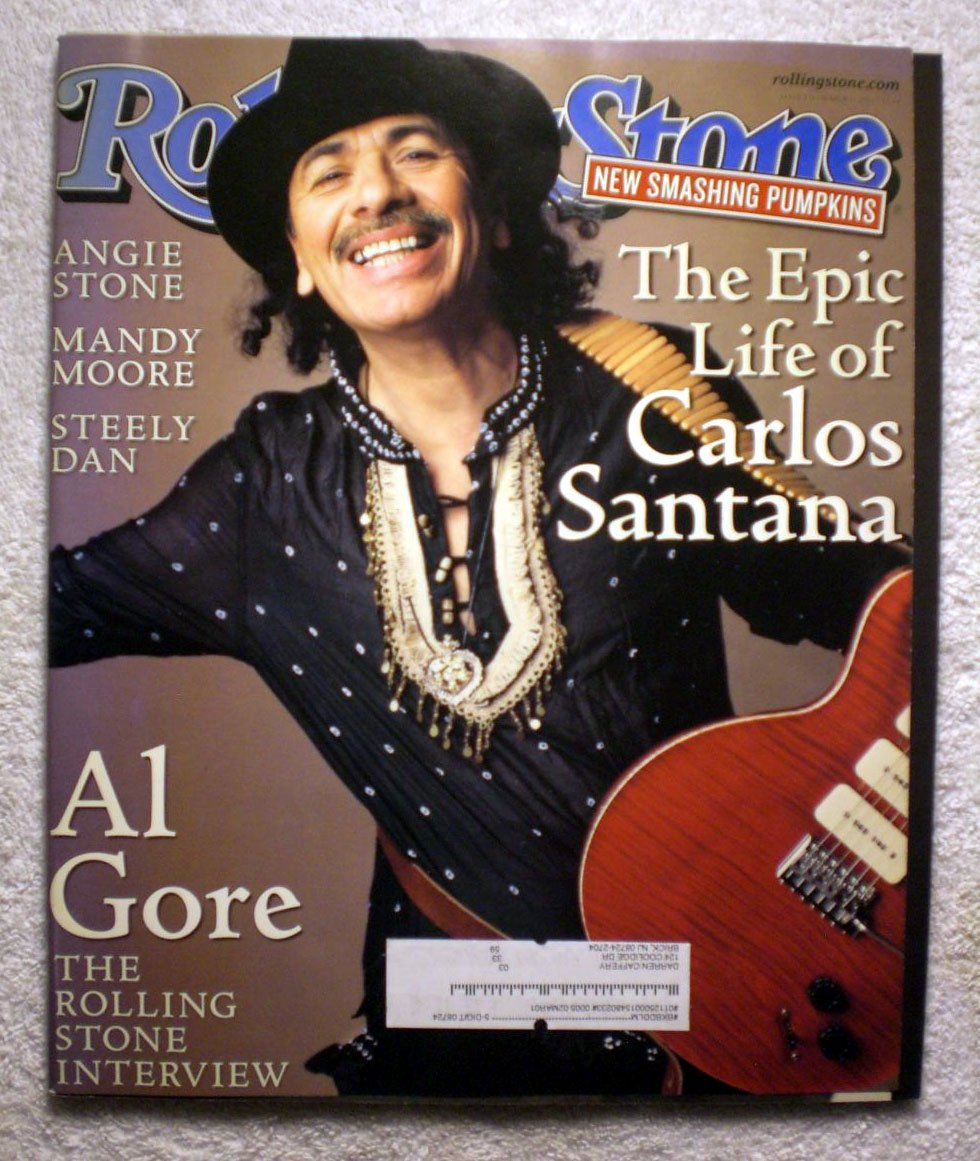 The Epic Life of Carlos Santana - Rolling Stone Magazine - #836 - March 16, 2000 - Al Gore Interview, Angie Stone, Mandy Moore articles