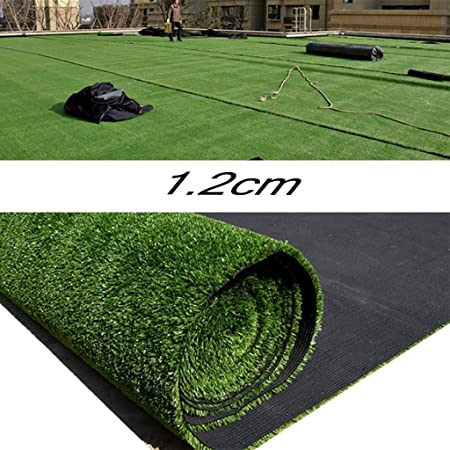 YNFNGXU 12 mm Altura de la Pila Césped Artificial Césped de jardín Duradero Natural Cifrado Césped Falso (Size : 2x12m): Amazon.es: Hogar