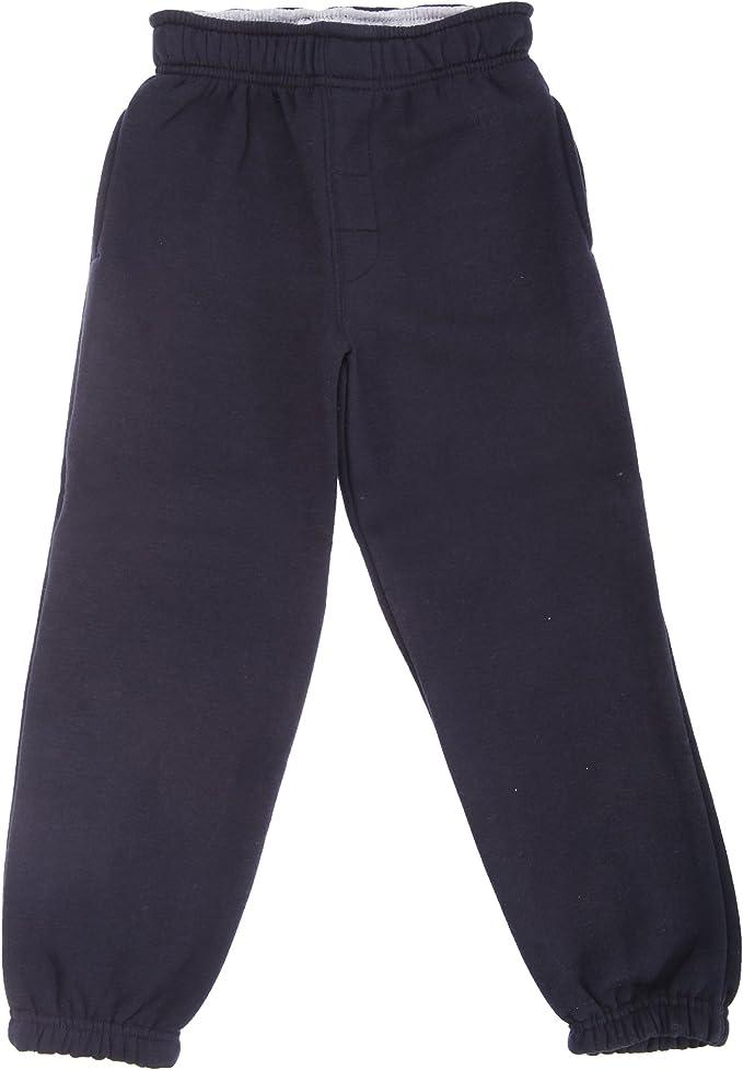 Pantalones de chándal lisos y elásticos para niños (3-4 Años/Azul ...