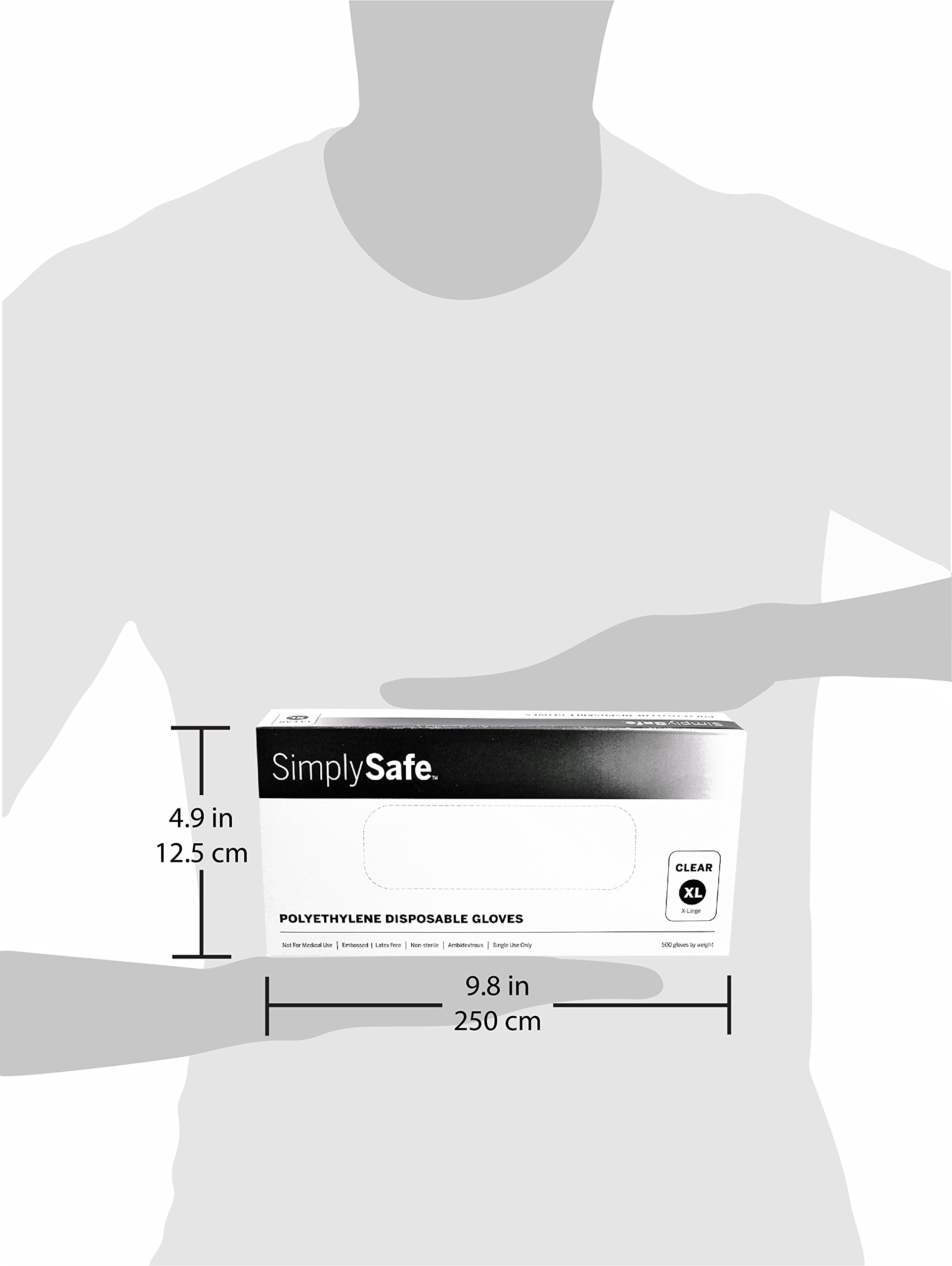 SimplySafe Poly Food Service Disposable Gloves, Translucent, 500 per Box/20 Boxes per case, Extra Large, Case of 10,000 by SimplySafe (Image #4)