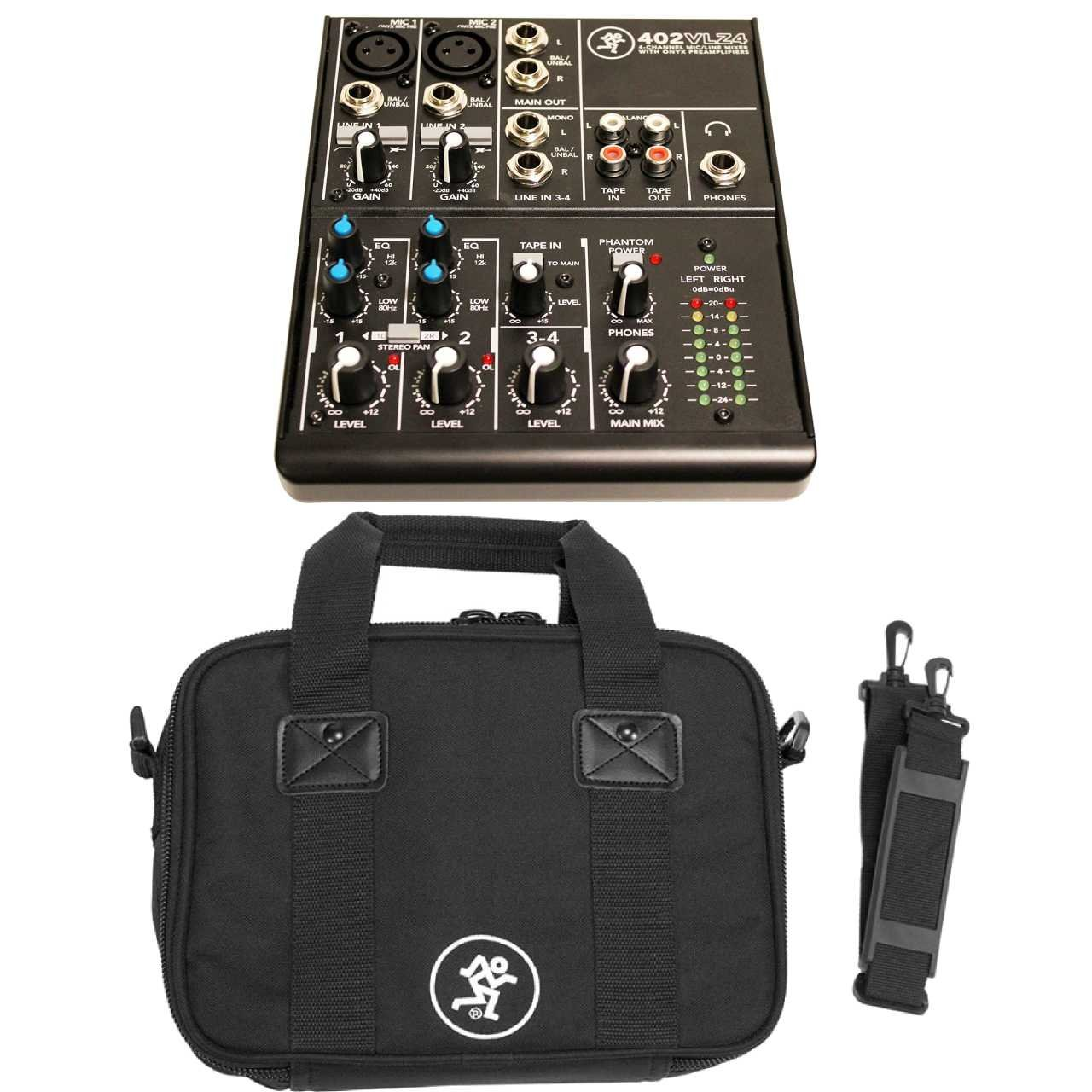 Mackie 402VLZ4, 4-channel Ultra Compact Mixer with Mackie Mixer Bag