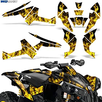 CreatorX Can-Am Renegade Graphics Kit Decals Stickers TribalX White Yellow