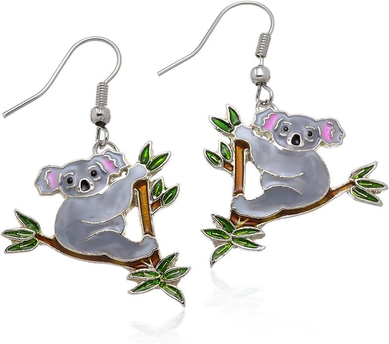 animal gifts animal jewellery dangle earrings charm earrings, Koala bear earrings koala gifts koala lover gifts animal earrings