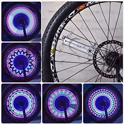 Asenart Tira de Luces LED Coloridas para Rueda de Bicicleta, luz de llanta, Colorida