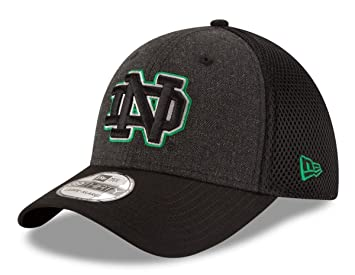 outlet store 90d16 6f558 ... reduced notre dame fighting irish new era ncaa 39thirty heathered black neo  flex fit hat a1d3d ...