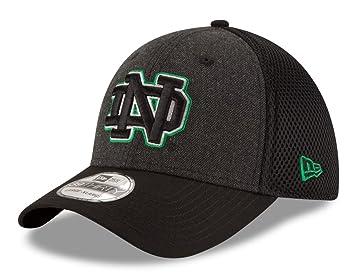 the best attitude 3da32 646bc ... reduced notre dame fighting irish new era ncaa 39thirty heathered black  neo flex fit hat a1d3d ...