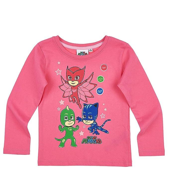 rosa PJ Masks Pyjamahelden M/ädchen Langarmshirt