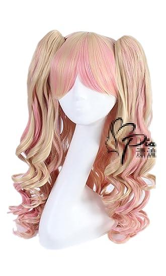 Amazon.com  Mzcurse Women Lolita Harajuku Mix Wavy Curly Hair Cosplay Wigs  + Clip Ponytails  Beauty a47b9cd87209