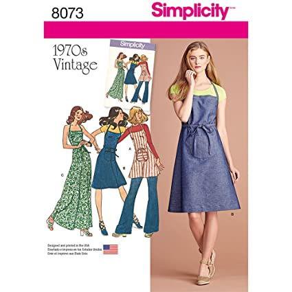 Amazon Simplicity Patterns Vintage 40's Apron Dress Size D40 Inspiration Simplicity Apron Patterns