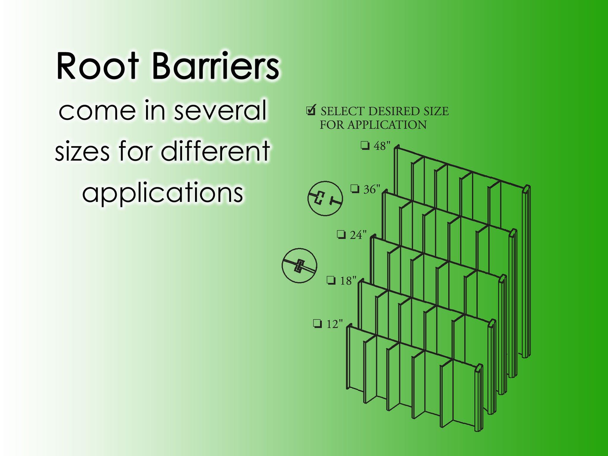 Villa Root Barrier Panels 36''x24''-10per Case- 20'