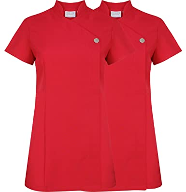 Bata con botón, uniforme para salón de belleza, 2 unidades: Amazon.es: Ropa y accesorios